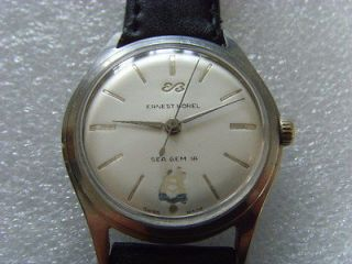 vintage swiss ernest borel 17j manual men s wristwatch from