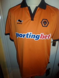 Wolverhampton Wanderers,Wolves) (football,soccer) (shirt,jersey)