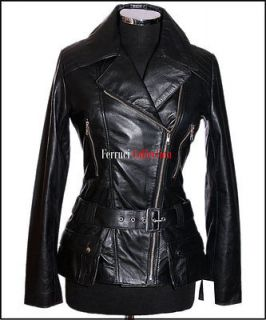 Womens Black Leather Jacket Size 16 in Coats & Jackets