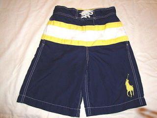 polo ralph lauren navy horse swim shorts m 10 12