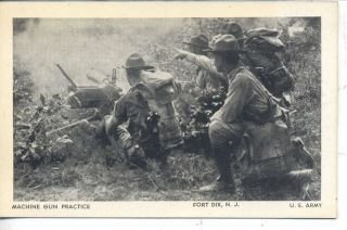 FORT DIX NEW JERSEY MACHINE GUN PRACTICE U.S. ARMY BASE VINTAGE