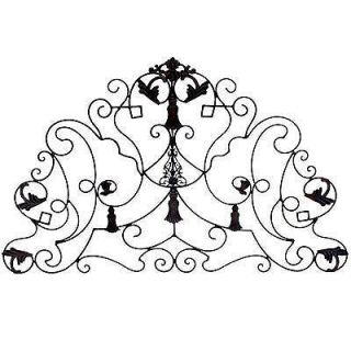 large wrought iron wall plaque decor 40 x26 86187 time