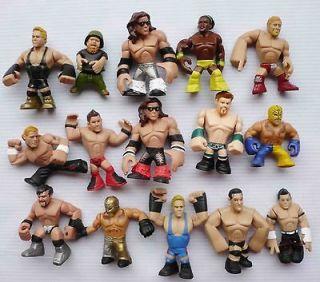 LOT OF 15 MATTEL WWE Wrestling RUMBLERS ACTION FIGURE #D3S