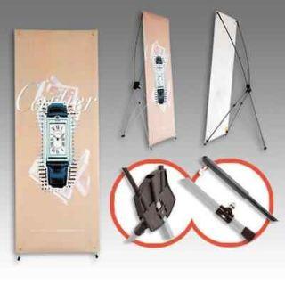 Pcs Tripod X Banner Stand 24x63 Trade Show Display BRAND NEW Ship