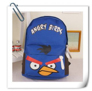 COOL Angry Birds Canvas Laptop Book BackPack Fashion Girl Boy Kids Bag