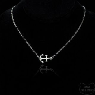 sterling silver anchor necklace in Fashion Jewelry