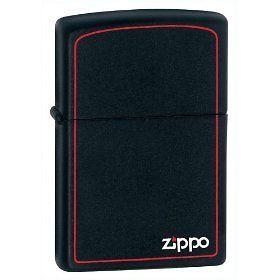 Zippo Black Matte W/Border Lighter, Full Size, Low Shipping, 218ZB