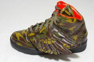 Adidas Originals JS Wings Camo Trainers bear bones flames Jeremy Scott
