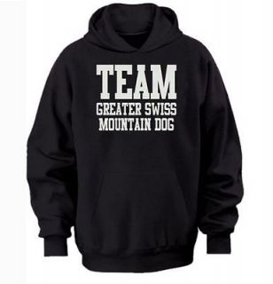 TEAM GREATER SWISS MOUNTAIN DOG HOODIE warm cozy top   dog and puppy