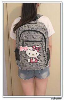 Hello Kitty Pattern Durable Nylon Girl Child Schoolbag Rucksack