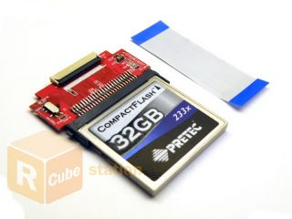 CF to 1 8 ZIF Hard Drive HDD SSD Mini Flip Adapter Case