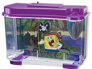 Plax 3 D Spongebob Pirate 0 75 Gallon Aquarium Fish Tank Kit