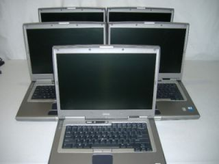 Lot of 5 Dell Latitude D800 Laptops 1600 MHz 1024MB