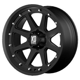 17 inch 17x9 KMC XD Addict Black Wheels Rims 8x180 18