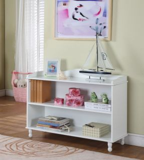 Kings Brand White Wood Finish 2 Tier Kids Bookcase New