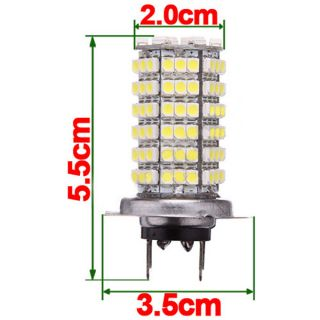 2X H7 120 LED 3528 SMD Xenon White Car Fog Lamp Bulb for Car Headlight