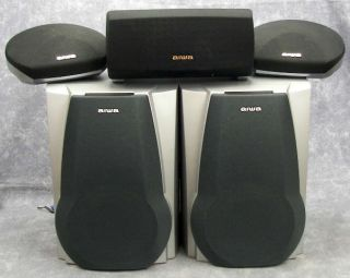 Aiwa 3 CD 5 Speaker Stereo System Dolby Digital 275Watt