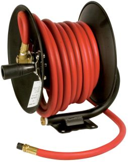 performance m614 30 foot manual air hose reel with hose condition new