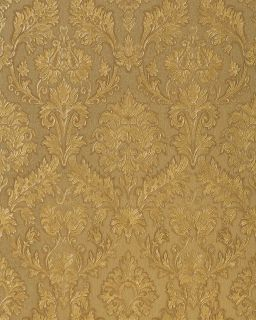 Edem 708 34 Heavyweight Embossed Baroque Damask Wallpaper Nut Brown