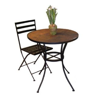4D Concepts Round Bistro Table with Slate Top 601611