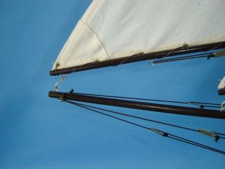 Bermuda Sloop 40 Decor Nautical Model Wooden Sailboats Model Sailing