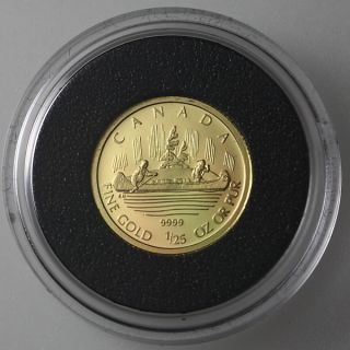 2005 Canada 50 Cent 1 25 oz Voyag 9999 Fine Proof Gold Coin