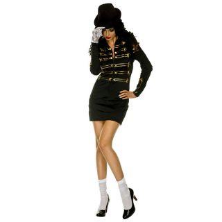 80s Michael Jackson Dance Pop Womens Glove Top Hat M L Size