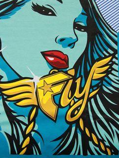 Famous Stars Straps FMS Stay Fly Graffiti Print T Shirt White s XL