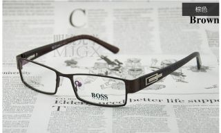 1143 Mans Metal Full Rim Optical Frame Eyeglasses Eyewear with Spring