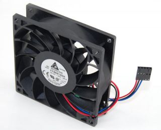 Delta 12V 4100 RPM 92mm 90CFM Brushless Fan FFB0912SH