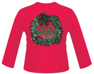 Southern Inspriational COUTURE womans shirt Red Merry Christmas Yall