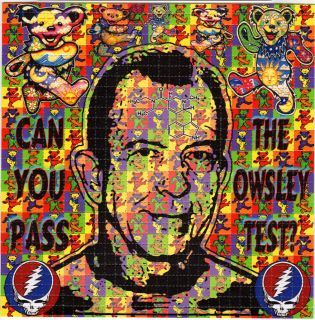 Owsley Bear Stanley Grateful Dead Bears Blotter Art