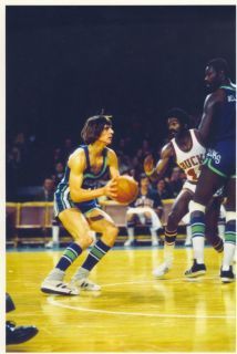Pete Maravich Atlanta Hawks NBA Pistol Pete RARE Color 8x10 Photo