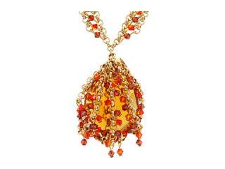 James Murray Fire Opal Swarovski Crystal Necklace