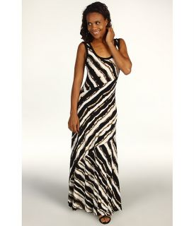 Calvin Klein Blurred Stripe Printed Maxi Dress