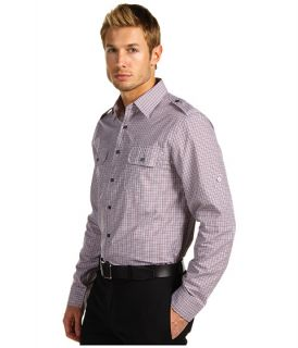 Michael Kors Addison Check Bias Bound Pocket Shirt
