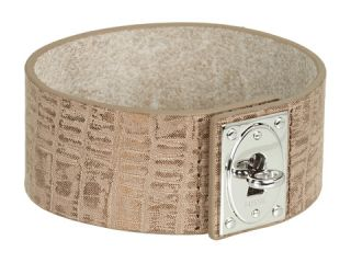 Fossil Wide Turn Link Leather Wrap Bracelet