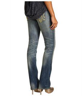 Mek Denim   Oaxaca Slim Bootcut Jean in Medium Blue Distress
