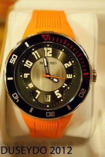 Philip Stein Extreme Orange Rubber Strap Mens Watch 34 BRG RO