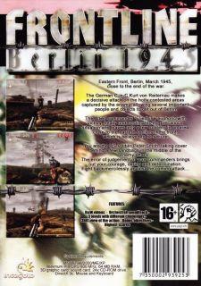 Frontline Berlin 1945 PC CD End of War Shooter Game