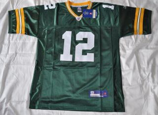 Authentic Green Bay Packers 12 Aaron Rodgers Jersey Green Sewn