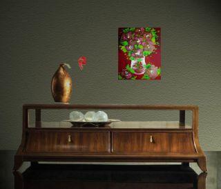 Original Modern Decor Acrylic Painting by Eugenia Abramson Art