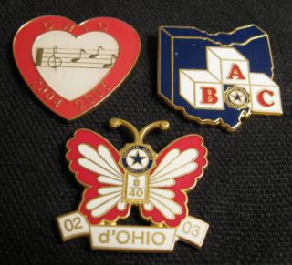 lot of 3 ohio american legion auxiliary pins