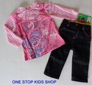 Abby Cadabby Girls 12 18 24 MO Set Outfit Shirt Pants Sesame Street