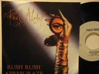 Paula Abdul Mexico 45 Rush Rush 7 Pop Picture Sleeve EMI