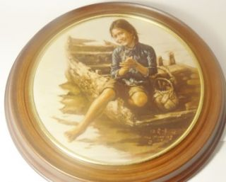 Artists World Children Aberdeen Framed Plate Sampan Girl Kee Fung NG