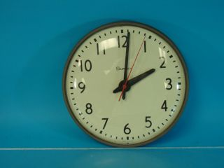 Vtg Simplex Electric Wall Mount School Clock Large 13 White Face