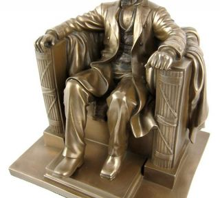 Abraham Lincoln Bronze Finished Memorial Statue Abe
