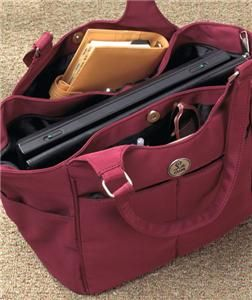 ZIPPERED TRAVEL TOTE LAPTOP BAG CASE ORGANIZER PERFECT FOR TRAVEL
