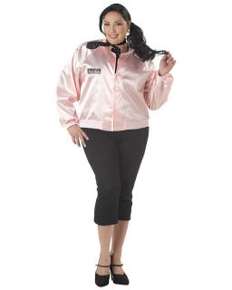 C316 50s Licensed Grease Pink Ladies Jacket Fancy Dress Halloween